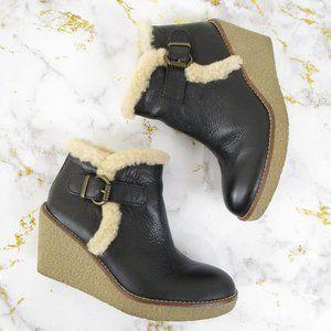 Sam Edelman Black Leather Jayla Ankle Boots Bootie